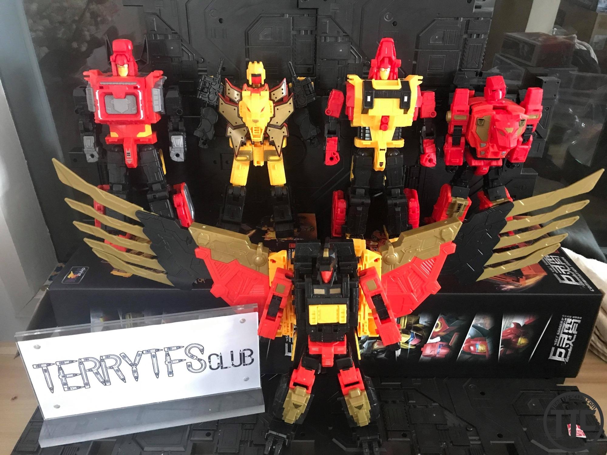 Transformers WeiJiang WJ Predaking Combiners(5 In 1 set)In Stock with Sword