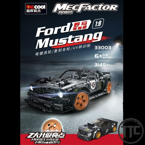 DECOOL 33003 1:8 Ford Mustang Hoonicorn Legoing bricks